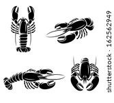 lobster set. vector | Shutterstock .eps vector #162562949