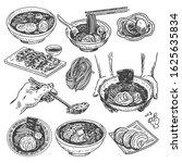 vintage food sketch. hand drawn ... | Shutterstock .eps vector #1625635834