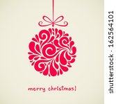 vector christmas decoration... | Shutterstock .eps vector #162564101