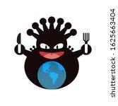 virus eating earth isolate icon  | Shutterstock .eps vector #1625663404