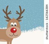 reindeer snowy background   Shutterstock .eps vector #162566384