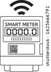 Smart Meter Icon Illustration...