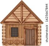 Wooden Cottage With One Door...