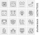 16 business universal icons... | Shutterstock .eps vector #1625675101