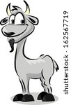 cartoon cute goat | Shutterstock .eps vector #162567719