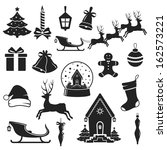 christmas and new year black... | Shutterstock .eps vector #162573221
