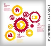 infographic business template... | Shutterstock .eps vector #162573875