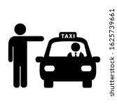 man hailing taxi vector icon...   Shutterstock .eps vector #1625739661