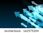 shiny arrows on black background | Shutterstock . vector #162575204
