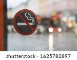 Smoking Forbidden Sign In A Bu...