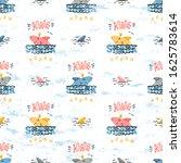 vector seamless childish... | Shutterstock .eps vector #1625783614