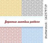 set of four patterns. japanese... | Shutterstock .eps vector #162579719