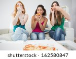 happy young female friends... | Shutterstock . vector #162580847