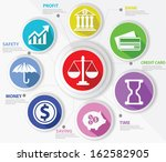 business law and finance... | Shutterstock .eps vector #162582905