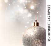 light christmas background with ... | Shutterstock .eps vector #162589859