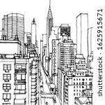 scene street illustration. hand ... | Shutterstock .eps vector #1625915671