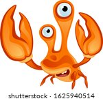 funny crab on a white background | Shutterstock .eps vector #1625940514