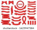 set of vector ribbon. flat... | Shutterstock .eps vector #1625947384