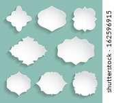 set of white paper decorative... | Shutterstock .eps vector #162596915