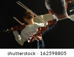 violinists playing at the... | Shutterstock . vector #162598805