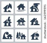 vector property insurance icons ... | Shutterstock .eps vector #162599591