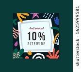 10  off sale banner  vector... | Shutterstock .eps vector #1625999581