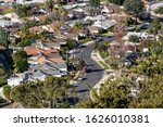 hilltop view of houses and... | Shutterstock . vector #1626010381