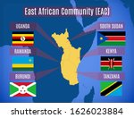 vector map and flags of the... | Shutterstock .eps vector #1626023884