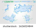 russia  china  japan and south... | Shutterstock .eps vector #1626024844
