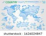 america  asia  africa  europe ... | Shutterstock .eps vector #1626024847
