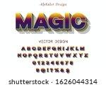 3d font.abc vector.alphabet... | Shutterstock .eps vector #1626044314