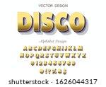 3d vector font.abc. alphabet... | Shutterstock .eps vector #1626044317
