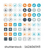 round and circle social media... | Shutterstock .eps vector #162606545