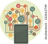conceptual circular composition ... | Shutterstock .eps vector #162612749