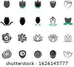 rose flower icon set   isolated ... | Shutterstock .eps vector #1626145777