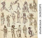 soldiers  warriors and heroes ... | Shutterstock . vector #162622691