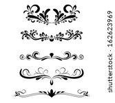 calligraphic elements | Shutterstock .eps vector #162623969