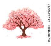 cherry blossom spring flower... | Shutterstock .eps vector #1626240067