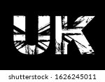 united kingdom flag in letters  ... | Shutterstock .eps vector #1626245011