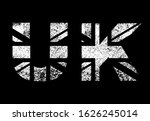 united kingdom flag in letters  ... | Shutterstock .eps vector #1626245014