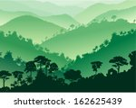 vector tropical rainforest... | Shutterstock .eps vector #162625439