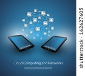 cloud computing and networks  ... | Shutterstock .eps vector #162627605