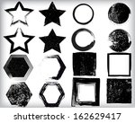 grunge shapes  | Shutterstock .eps vector #162629417