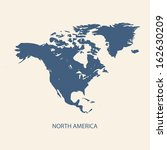 north america map | Shutterstock .eps vector #162630209