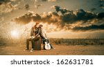 young musicians at fall... | Shutterstock . vector #162631781