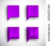 set of 3d violet   purple... | Shutterstock .eps vector #162633164