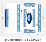wet wipes box template | Shutterstock .eps vector #162634214