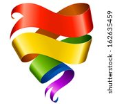 vector rainbow ribbon in the... | Shutterstock .eps vector #162635459