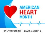 national american heart month... | Shutterstock .eps vector #1626360841