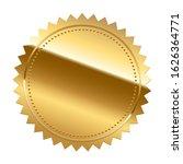 golden seal isolated on white... | Shutterstock . vector #1626364771